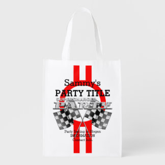Personalized Supercharged Performance Party Reusable Grocery Bag