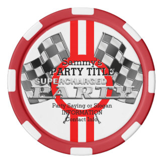 Personalized Supercharged Performance Party Set Of Poker Chips