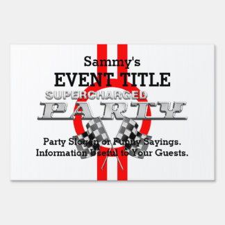 Personalized Supercharged Performance Party Sign