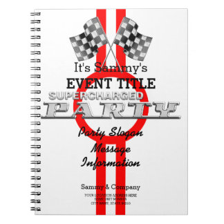Personalized Supercharged Performance Party Spiral Notebook
