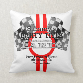 Personalized Supercharged Performance Party Throw Pillow