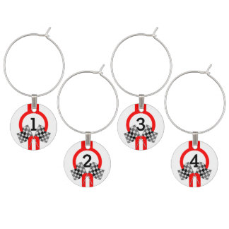 Personalized Supercharged Performance Party Wine Glass Charm