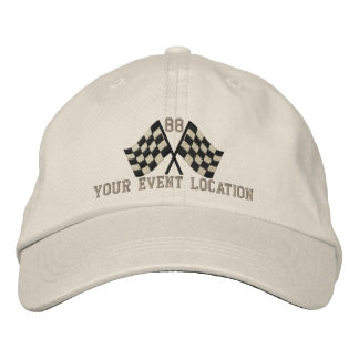 Personalized Supercharged Racing Flags Embroidery Cap
