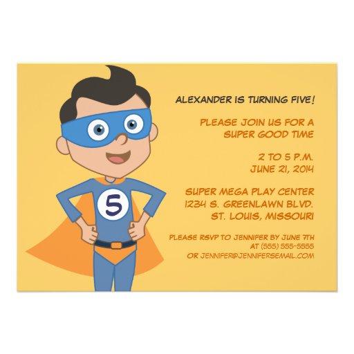 personalized superhero kids birthday party invites 5 u0026quot  x 7