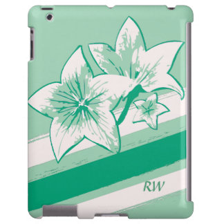 Personalized Surf Green and cream modern Art Lilly