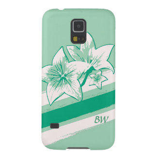 Personalized Surf Green and cream modern Art Lilly Galaxy S5 Covers