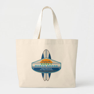 Personalized Surfing Kauai North Shore Large Tote Bag