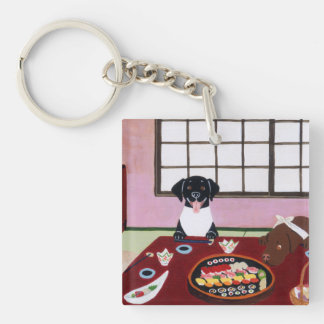 Personalized Sushi Party Labradors Keychain