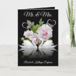 "Personalized Swans Wedding/Anniversary Card<br><div class=""desc"">A beautiful greeting card with elegant swans and easy personalization.  Great for weddings or anniversaries.</div>"