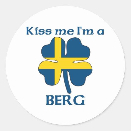 Personalized Swedish Kiss Me I'm Berg Stickers