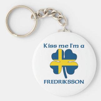Personalized Swedish Kiss Me I'm Fredriksson Keychain
