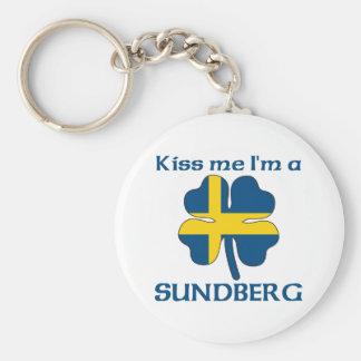 Personalized Swedish Kiss Me I'm Sundberg Keychain