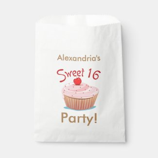 Personalized Sweet 16 16th Birthday Favor Bag