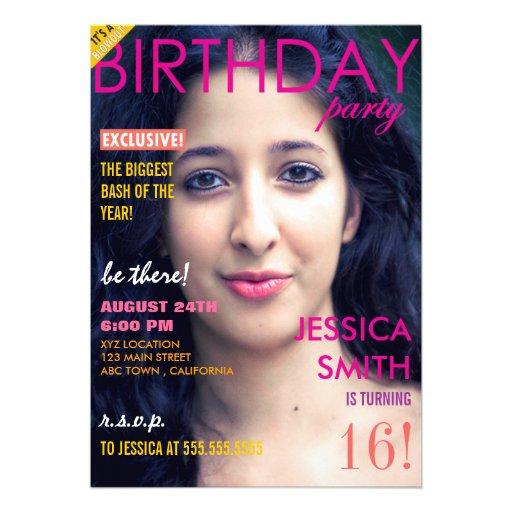 personalized magazine cover invitations