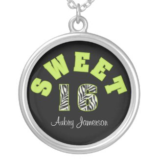 Personalized Sweet 16 Necklace necklace