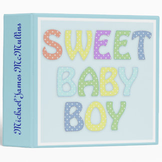 Personalized Sweet Baby Boy Photo Album 3 Ring Binder