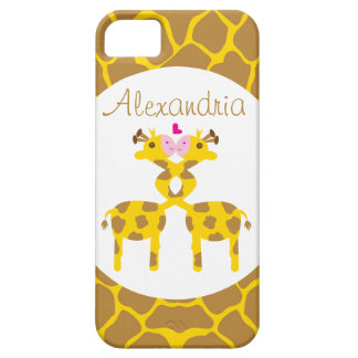 Personalized Sweet Giraffes in Love iPhone SE/5/5s Case