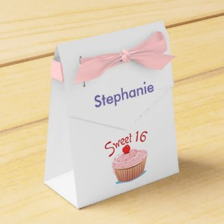 Personalized Sweet Sixteen 16th Birthday Favor Box