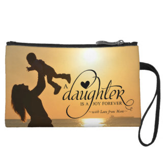 Personalized Sweet Your Photo Gift for Daughter Wristlet