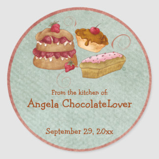 Personalized Sweets Recipe Stickers