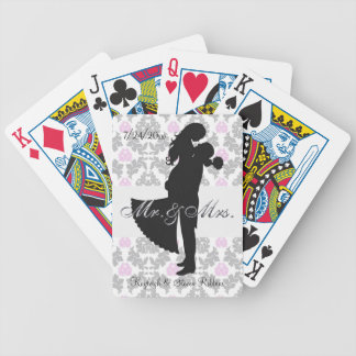 Personalized Swept Away Bicycle Playing Cards