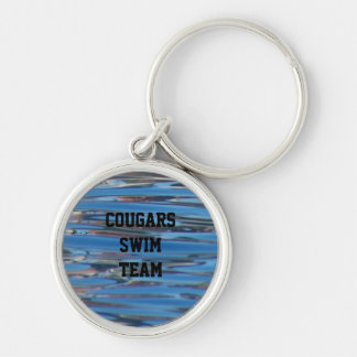 Personalized Swim Team Pool Water Name Keychain