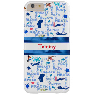 Personalized Swimmers Words iPhone Case