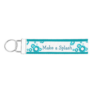 Personalized Swimmers Wrist Keychain