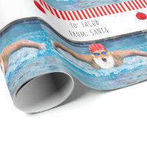 personalized swimming Christmas Wrapping Paper