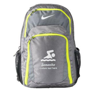 Personalized Swimming Club, Swimmer Name Custom Nike Backpack