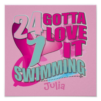 Personalized Swimming Posters