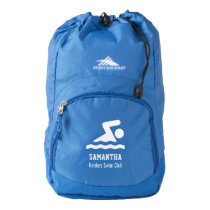 Personalized Swimming Team, Swimmer Name Custom Backpack