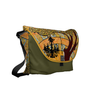 Personalized Swirl Tree Chandelier Messenger Bag
