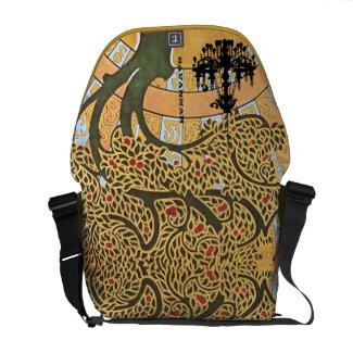Personalized Swirl Tree Chandelier Messenger Bag rickshawmessengerbag