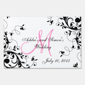 Personalized Swirls Wedding Sign