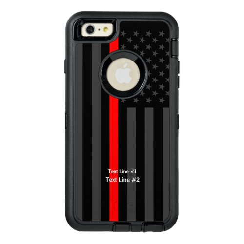Personalized Symbolic US Flag Thin Red Line on Phone Case