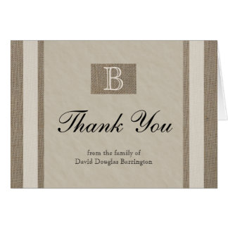 Personalized Sympathy Thank You Note Cards