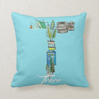 Personalized T is for _______ pillow
