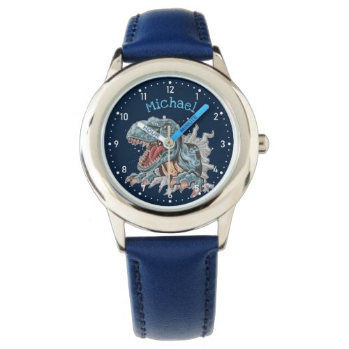 Personalized T-Rex dinosaur kids' watch