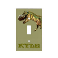 Personalized T rex light switch cover