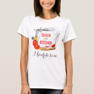 Personalized t-shirt Queen of the Kitchen Gourmet