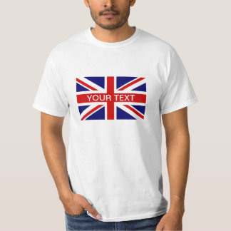 Personalized T Shirts with British Union Jack flag