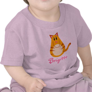 Personalized Tabby Cat Baby Tee Shirt Gift