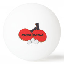 Personalized Table Tennis Red Black Ping-Pong Ball