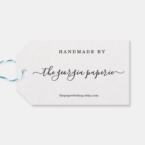 Personalized Tag for Handmade Items