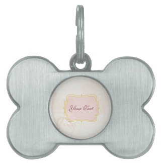 Personalized tag on Pale Pink