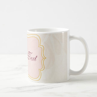 Personalized tag on Pale Pink Coffee Mug