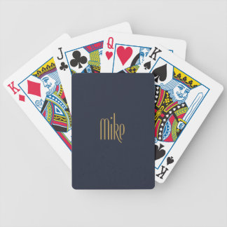 Personalized Tall Elegance Gold Mike Bicycle Playing Cards