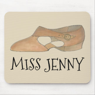 Personalized Tan Lyrical Shoe Dance Teacher Gift Mouse Pad