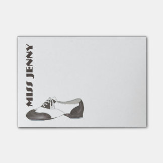 Personalized Tap Shoe Dance Teacher Gift Post-Its Post-it Notes